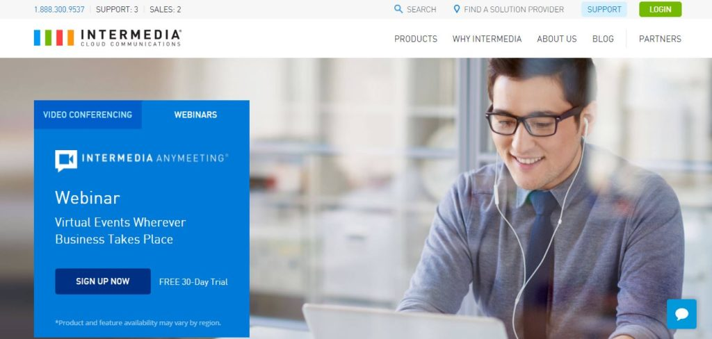 Intermedia AnyMeeting - best video conferencing software
