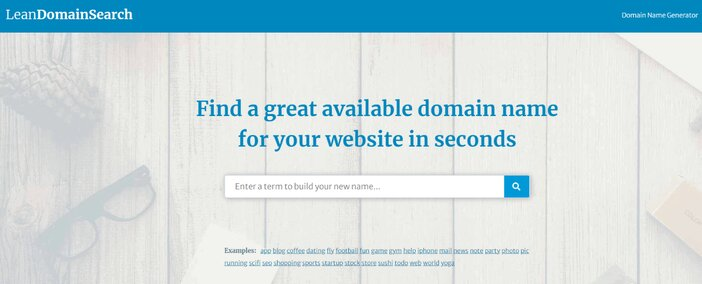 Lean Domain Search homepage tosinajy