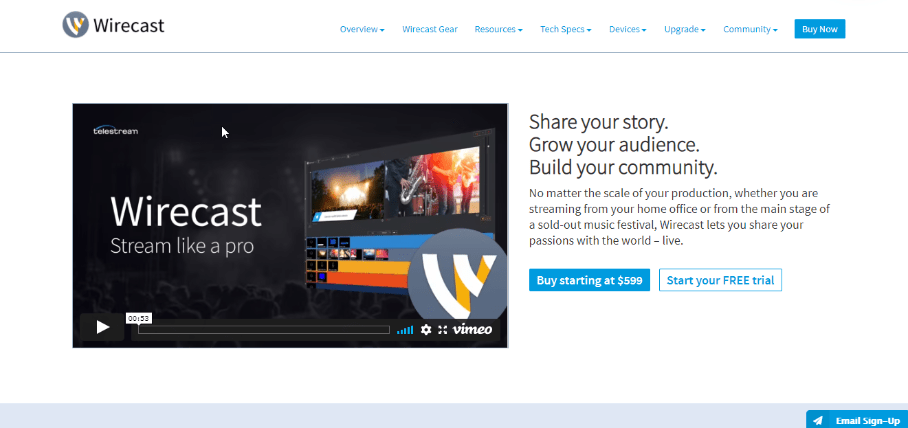 Wirecast Streaming Software