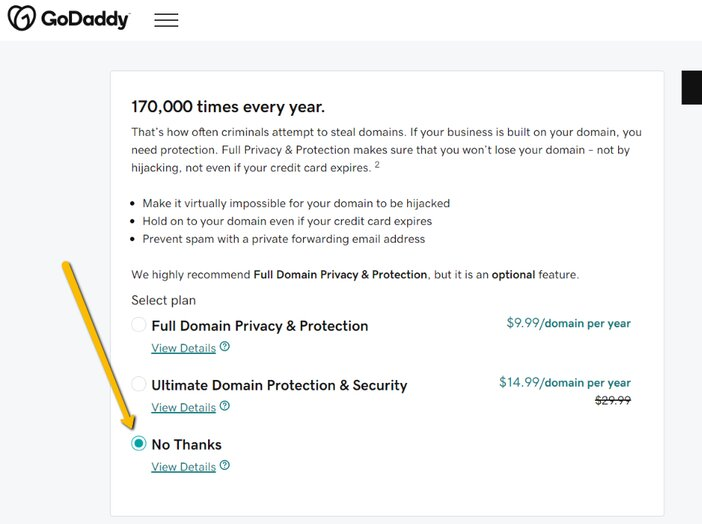 GoDaddy Domain Privacy Protection Addon Services Tosinajy
