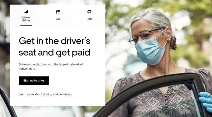 Uberr App Homepage - Best App to Get Paid While Driving Tosinajy