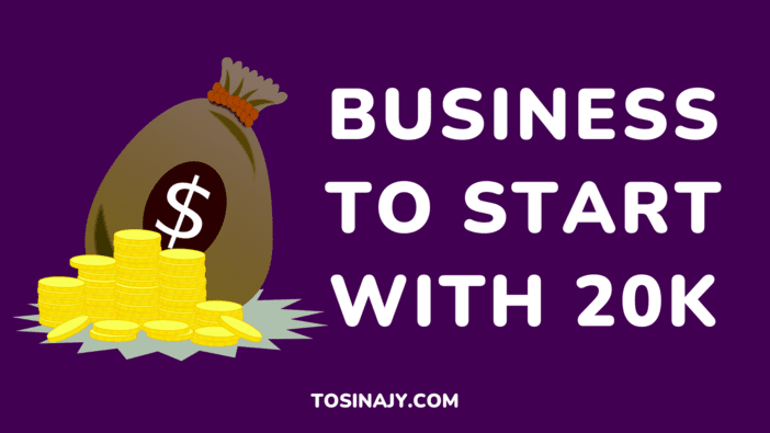 Business To Start With 20k - Tosinajy