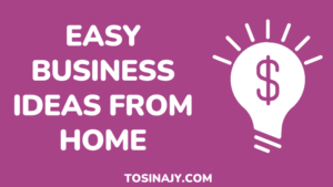 Easy Business Ideas from Home-Tosinajy