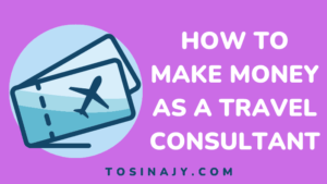 How to make money as a travel consultant - Tosinajy